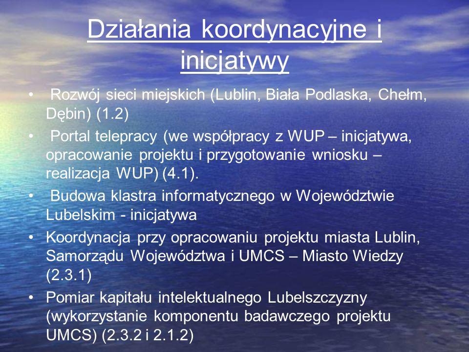 Działania koordynacyjne i inicjatywy