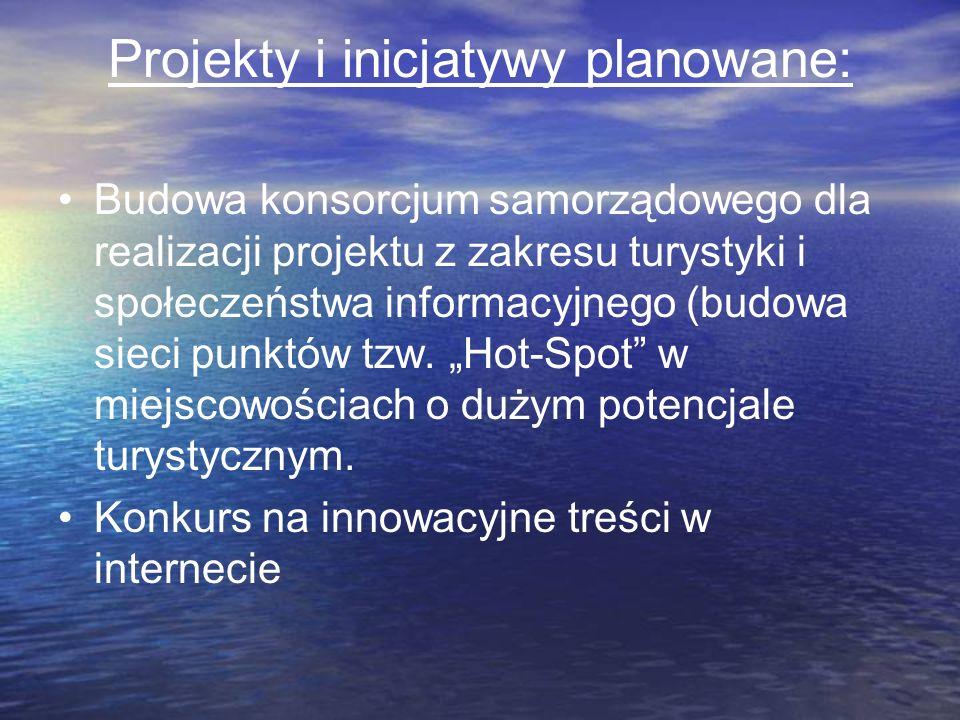 Projekty i inicjatywy planowane: