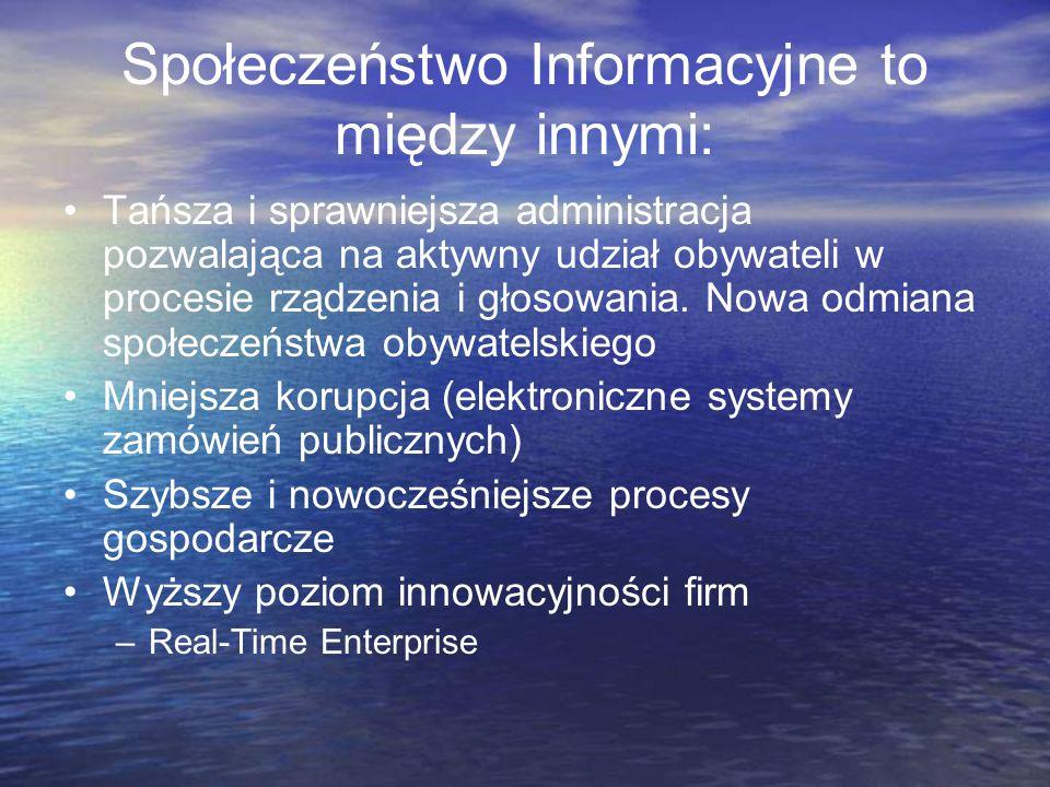Społeczeństwo Informacyjne to między innymi: