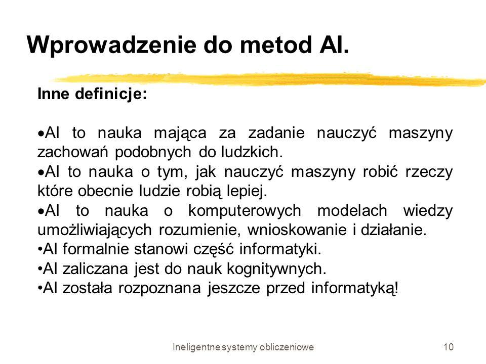 Wprowadzenie do metod AI.