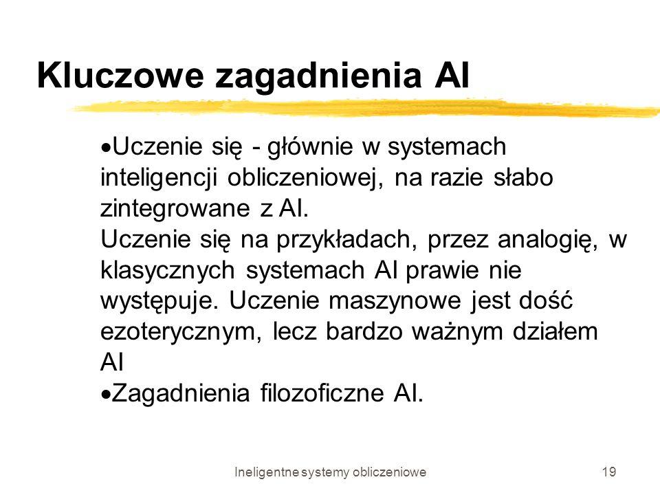 Kluczowe zagadnienia AI