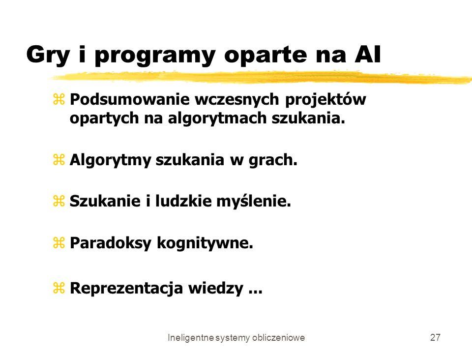 Gry i programy oparte na AI