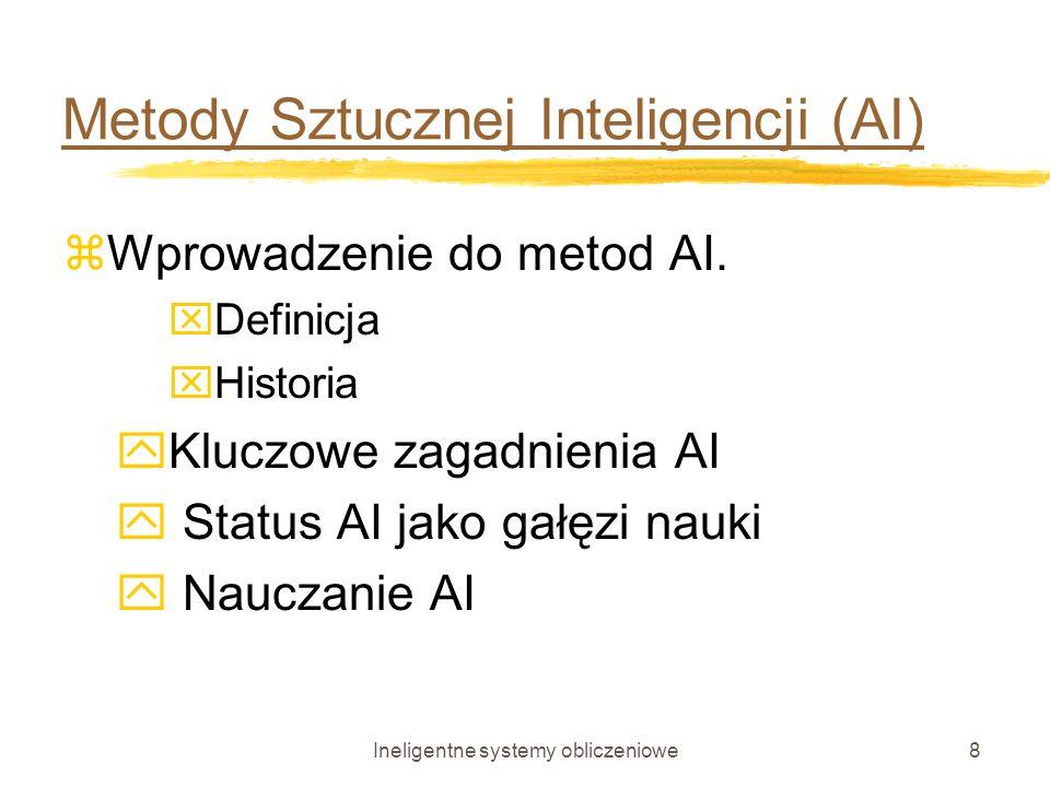 Metody Sztucznej Inteligencji (AI)