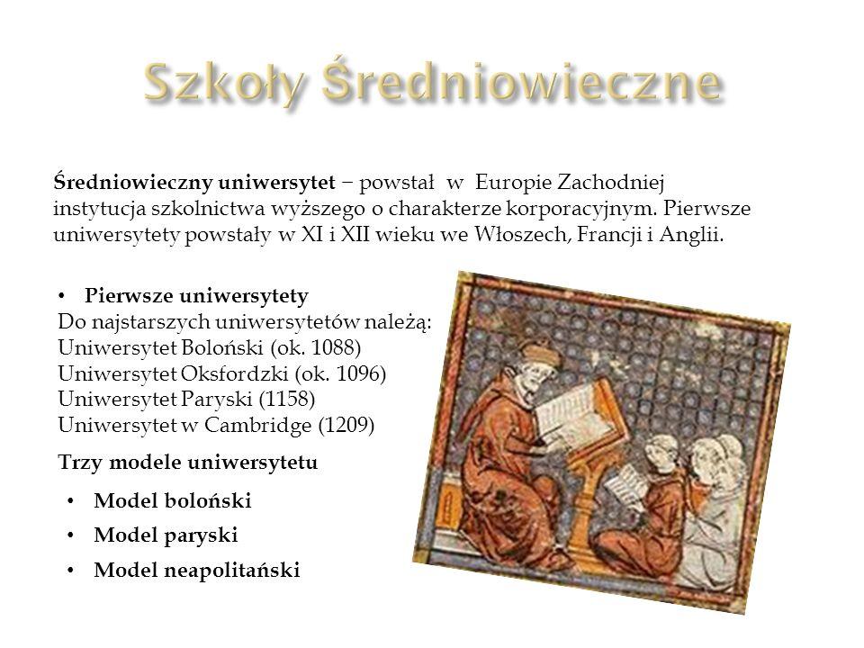 Szkoły Średniowieczne