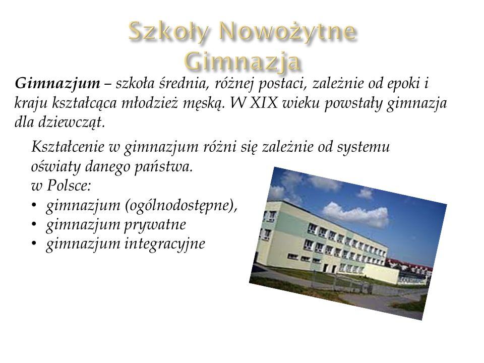Szkoły Nowożytne Gimnazja