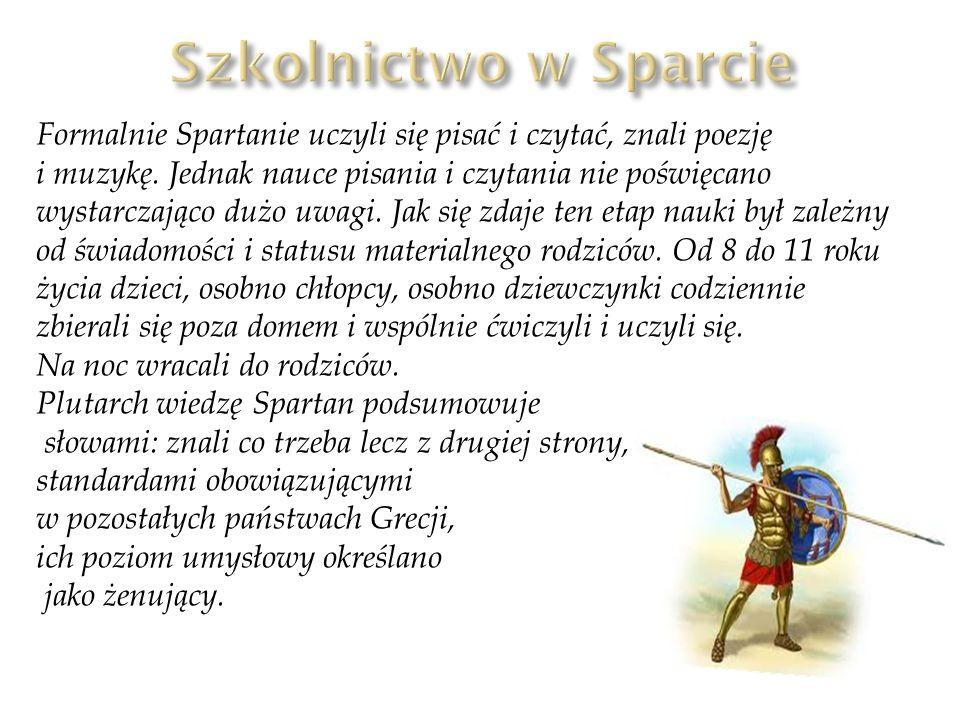 Szkolnictwo w Sparcie