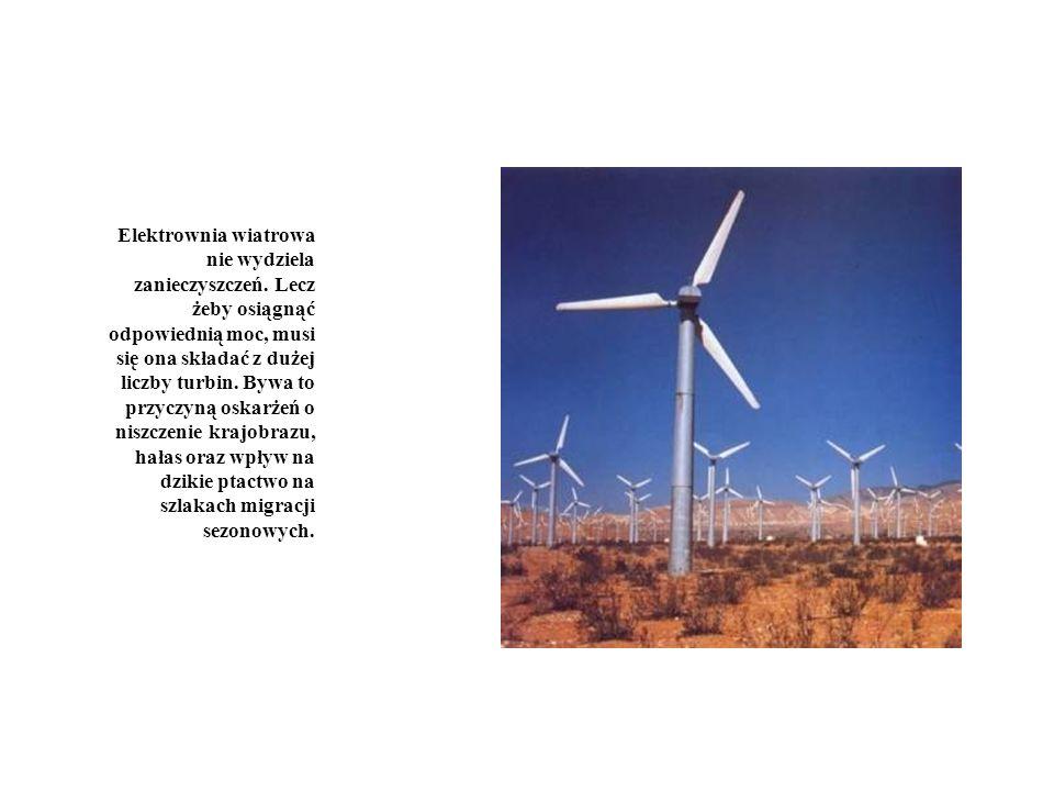 Elektrownia wiatrowa nie wydziela zanieczyszczeń