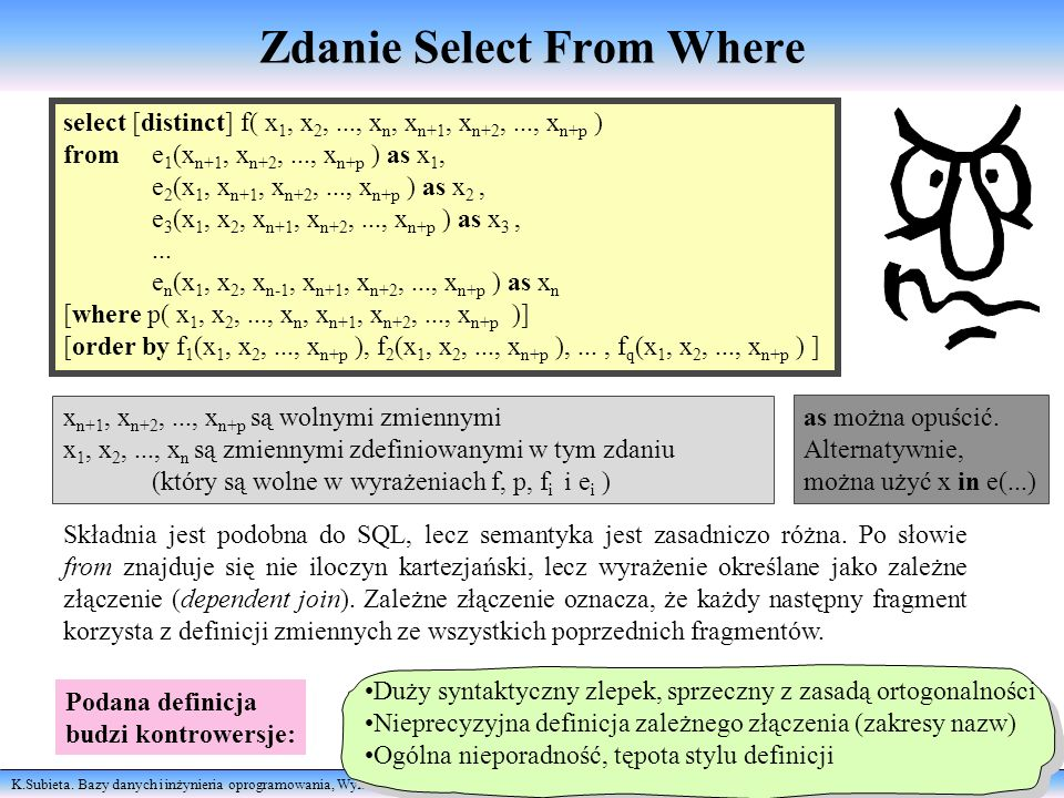 Zdanie Select From Where