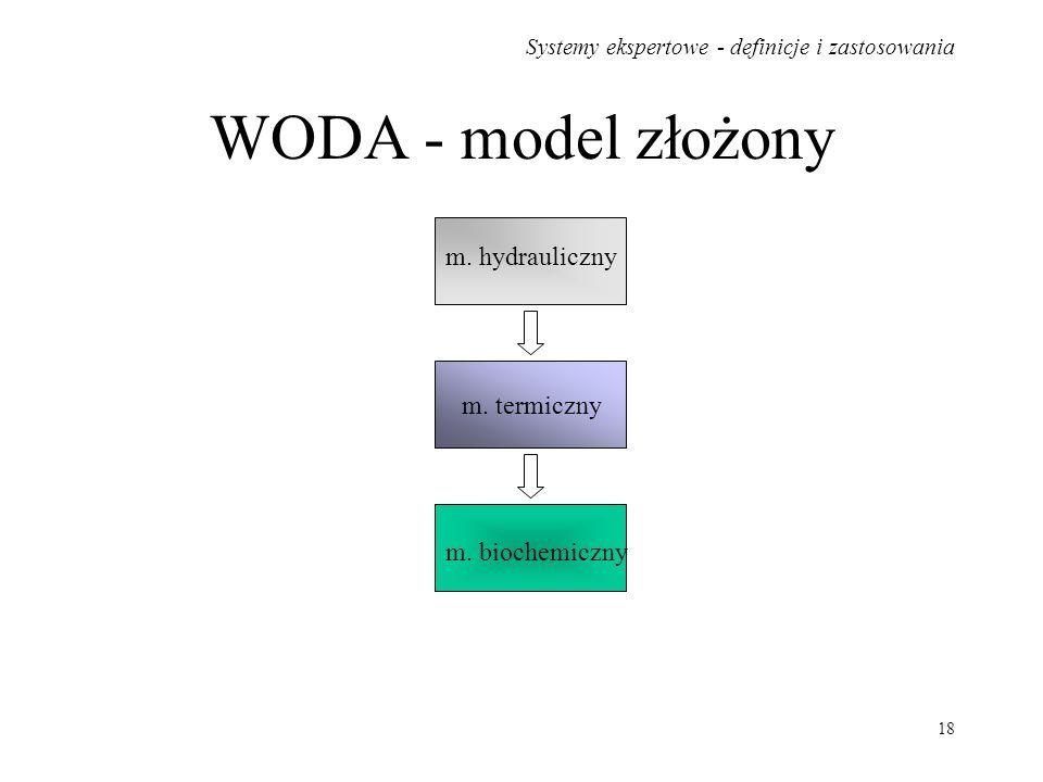 WODA - model złożony m. hydrauliczny m. termiczny m. biochemiczny