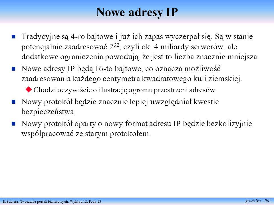 Nowe adresy IP