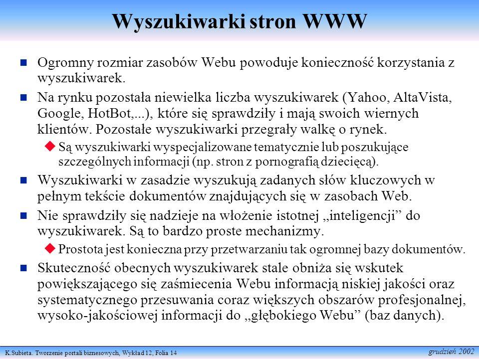 Wyszukiwarki stron WWW