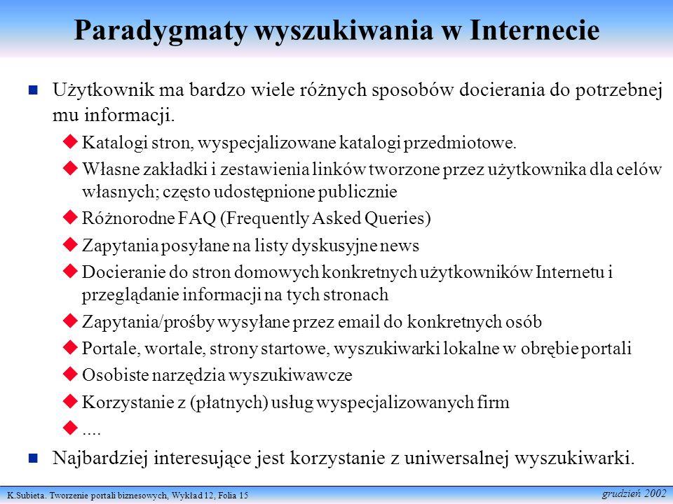 Paradygmaty wyszukiwania w Internecie