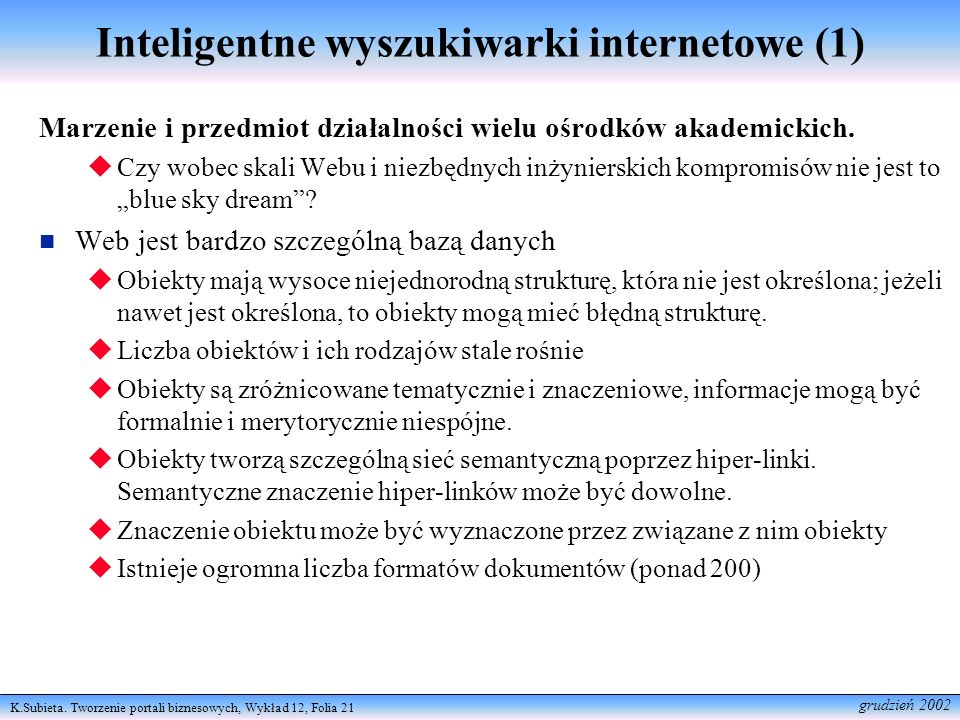 Inteligentne wyszukiwarki internetowe (1)
