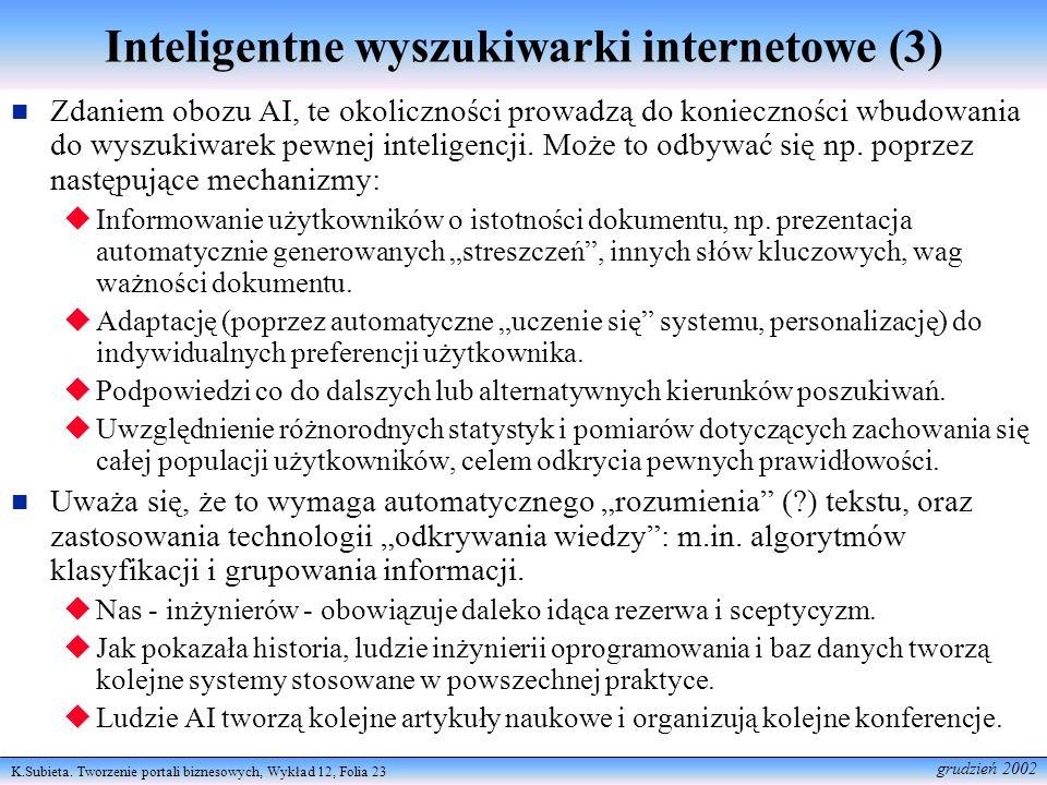 Inteligentne wyszukiwarki internetowe (3)