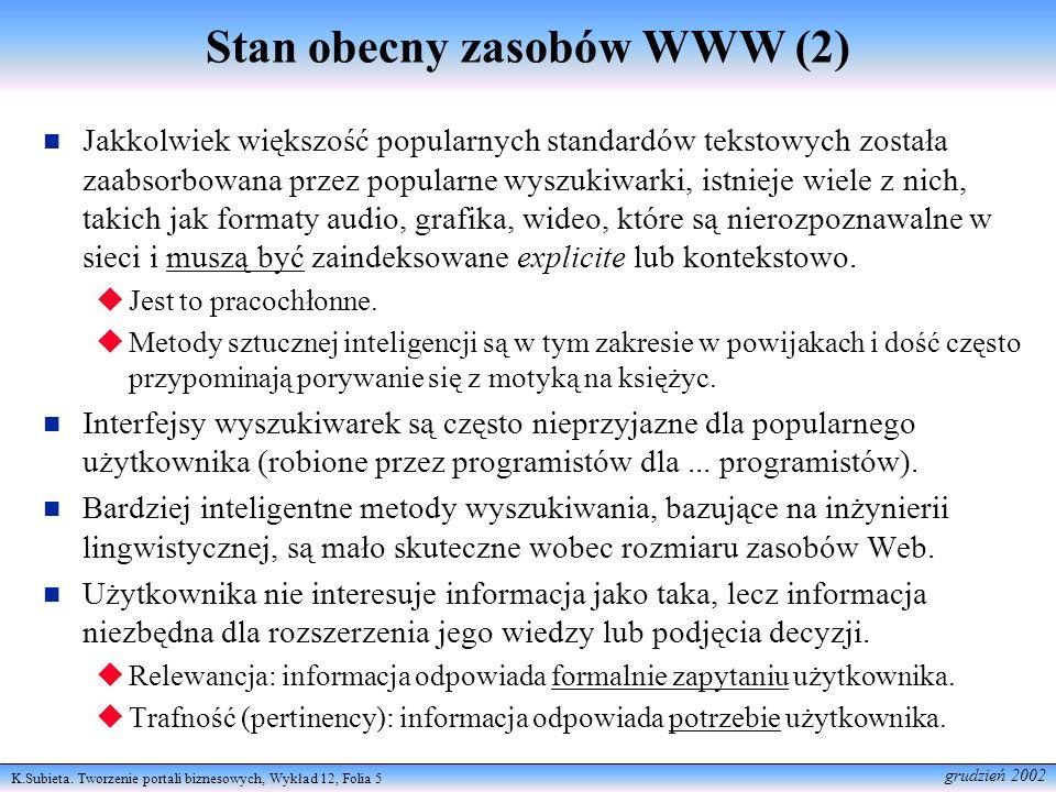 Stan obecny zasobów WWW (2)
