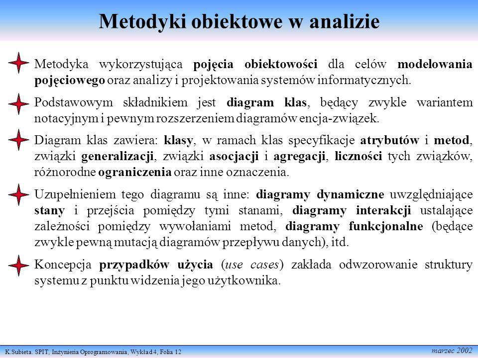 Metodyki obiektowe w analizie