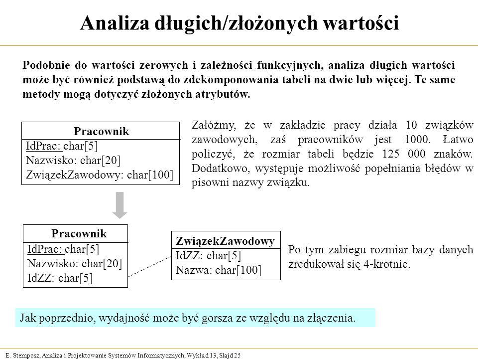 Analiza długich/złożonych wartości