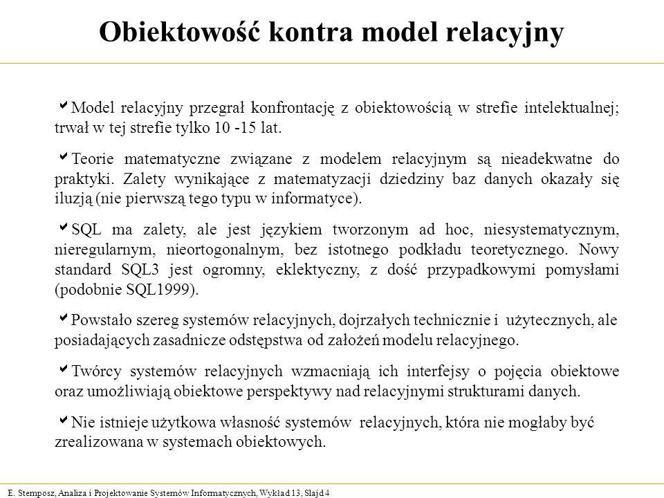 Obiektowość kontra model relacyjny
