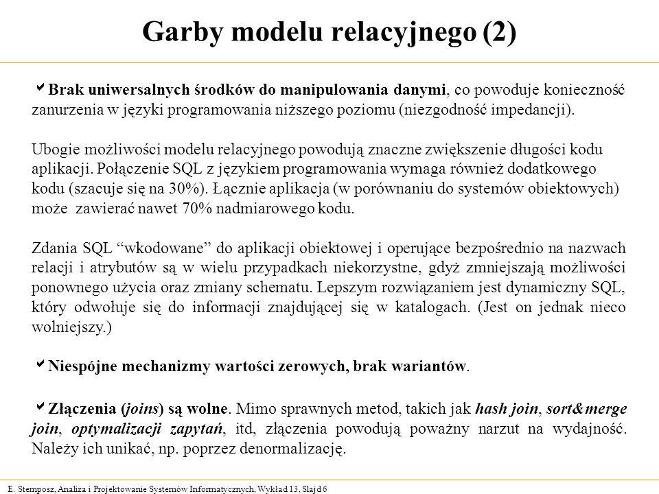 Garby modelu relacyjnego (2)
