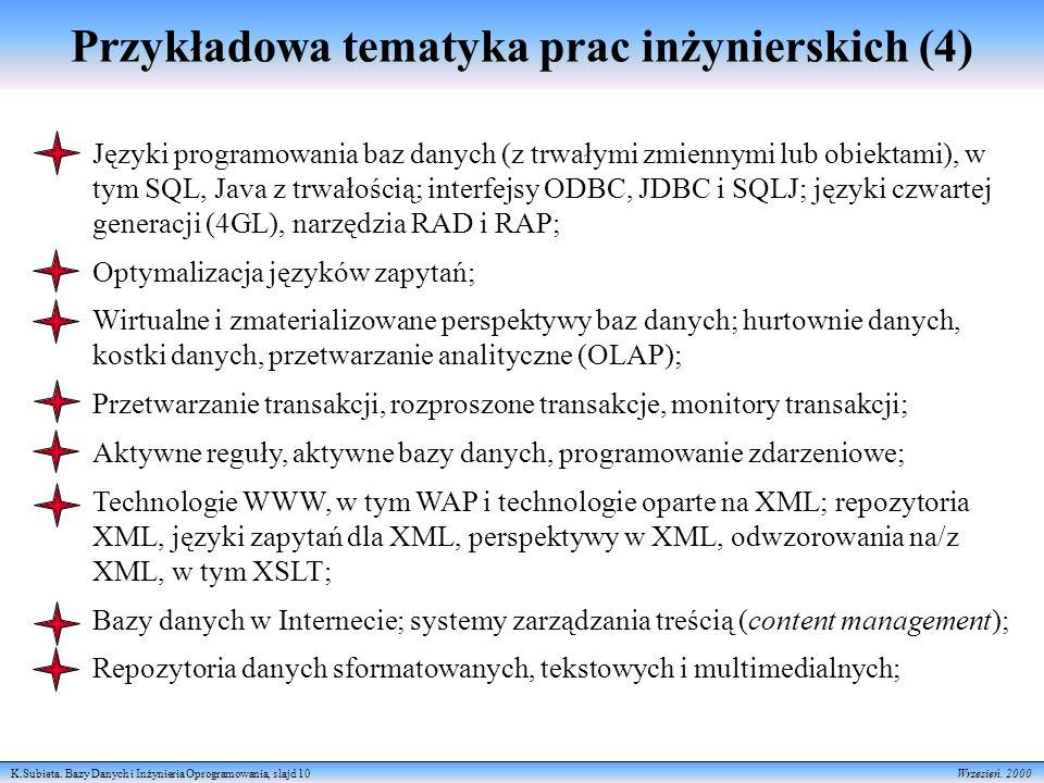 Przykładowa tematyka prac inżynierskich (4)