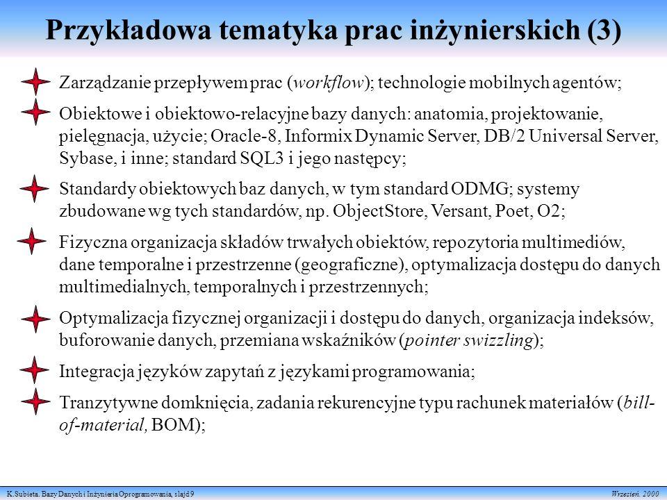 Przykładowa tematyka prac inżynierskich (3)