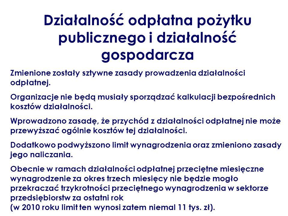 Działalność odpłatna pożytku publicznego i działalność gospodarcza