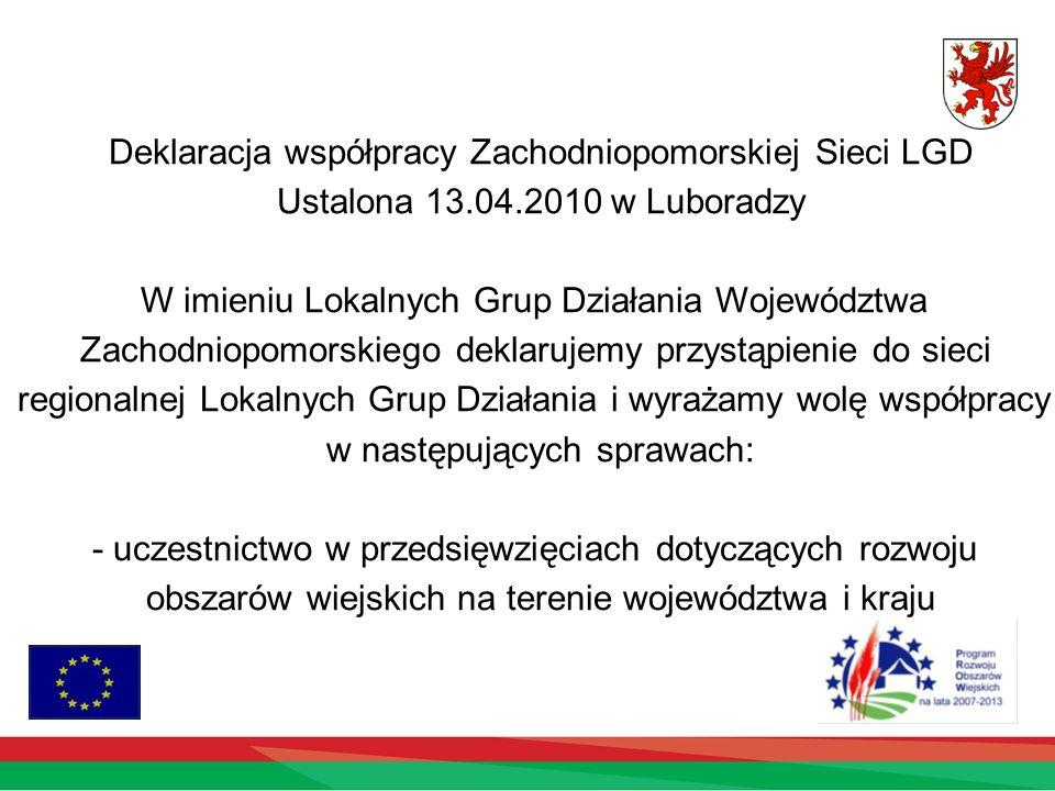 Deklaracja współpracy Zachodniopomorskiej Sieci LGD