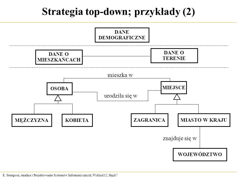Strategia top-down; przykłady (2)