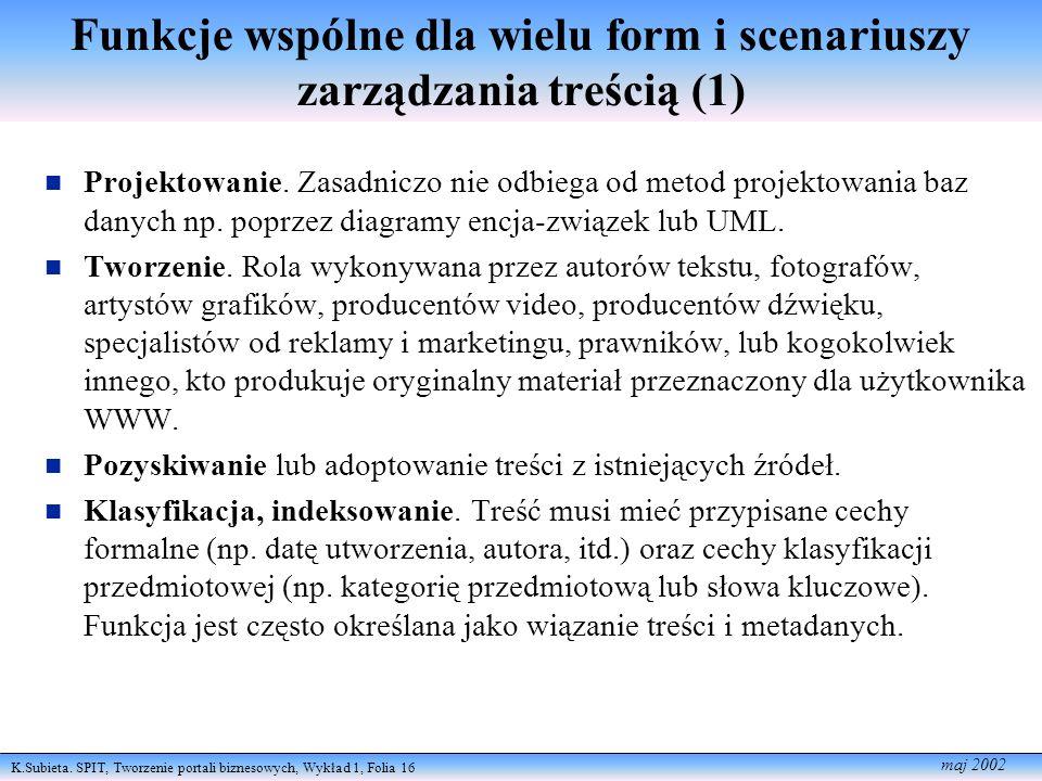 Funkcje wspólne dla wielu form i scenariuszy zarządzania treścią (1)