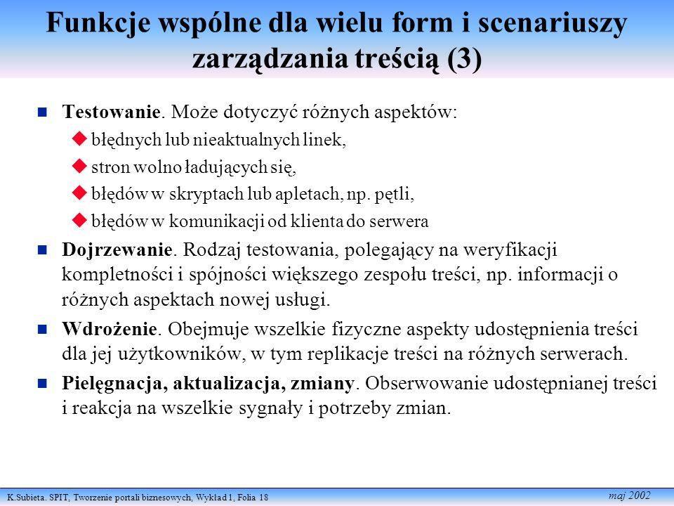 Funkcje wspólne dla wielu form i scenariuszy zarządzania treścią (3)
