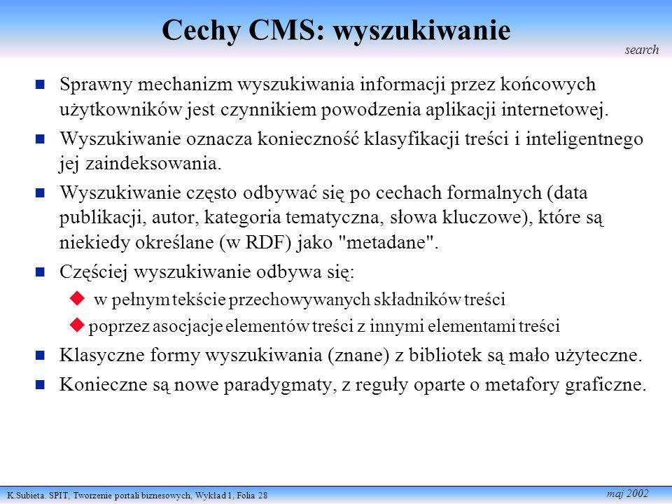 Cechy CMS: wyszukiwanie