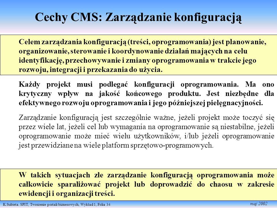 Cechy CMS: Zarządzanie konfiguracją