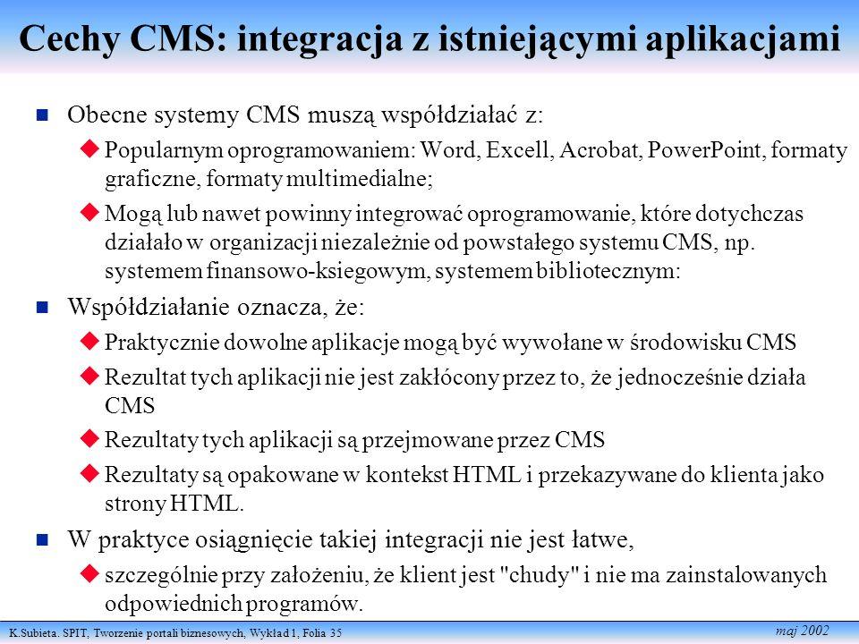 Cechy CMS: integracja z istniejącymi aplikacjami