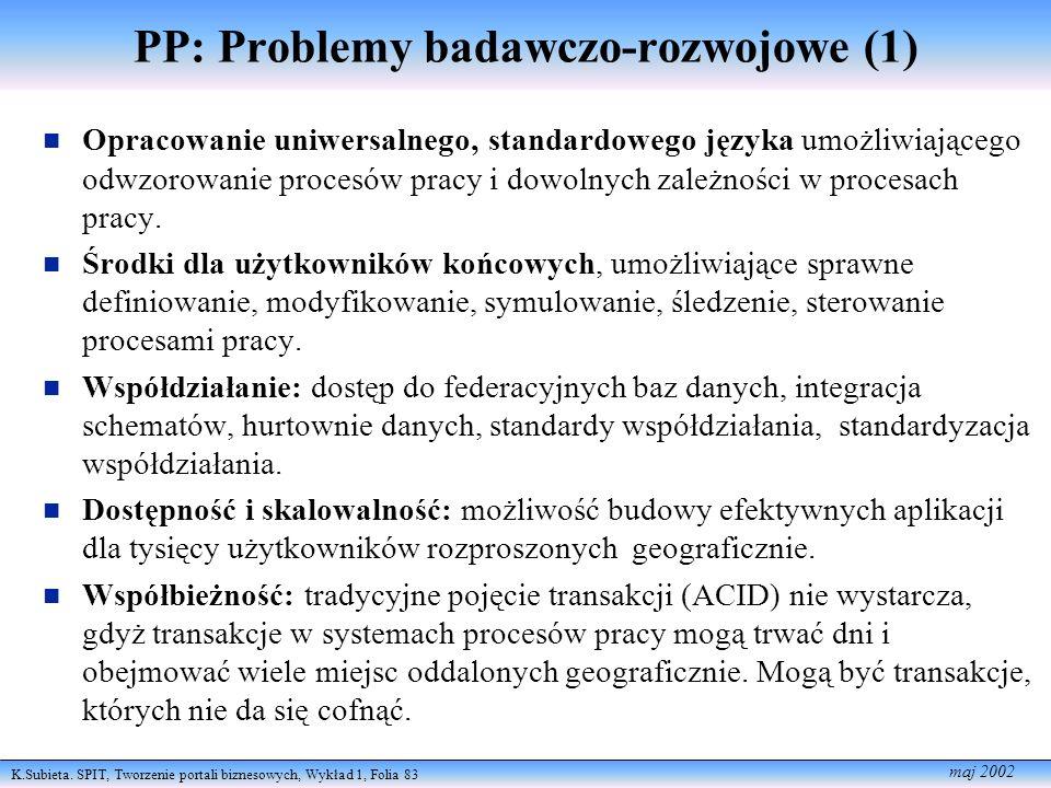PP: Problemy badawczo-rozwojowe (1)