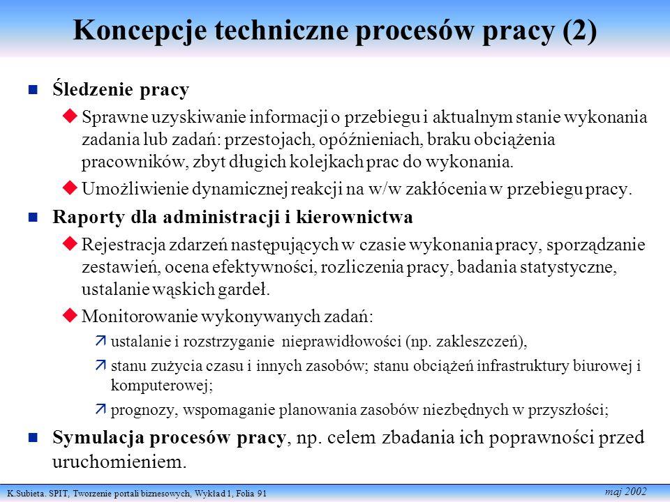 Koncepcje techniczne procesów pracy (2)