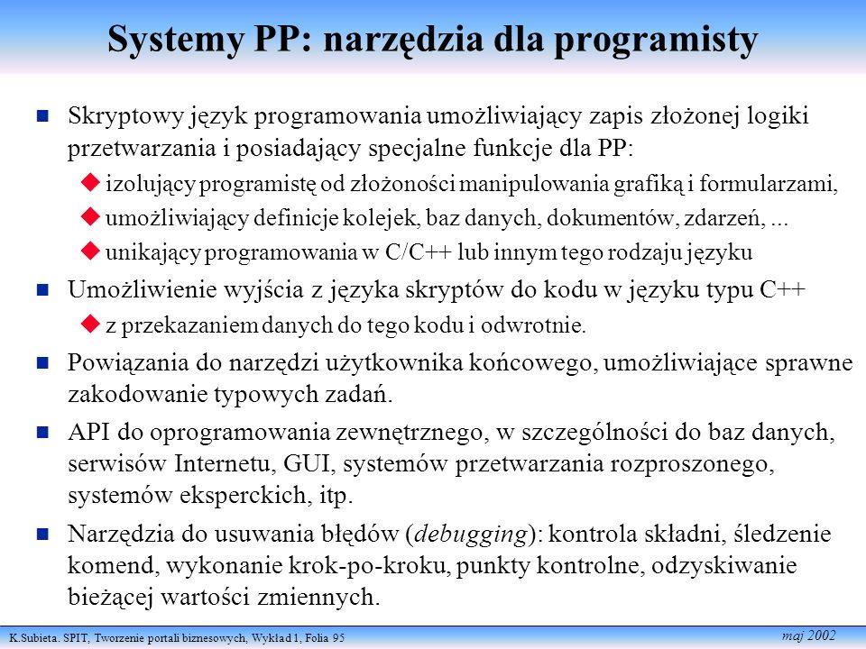 Systemy PP: narzędzia dla programisty