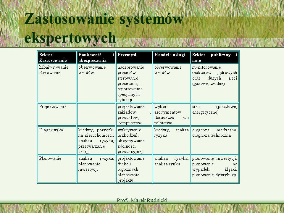 Zastosowanie systemów ekspertowych