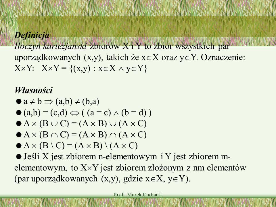 (a,b) = (c,d)  ( (a = c)  (b = d) ) A  (B  C) = (A  B)  (A  C)