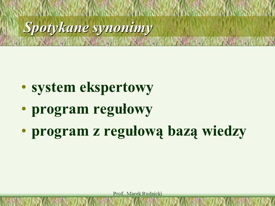 program z regułową bazą wiedzy