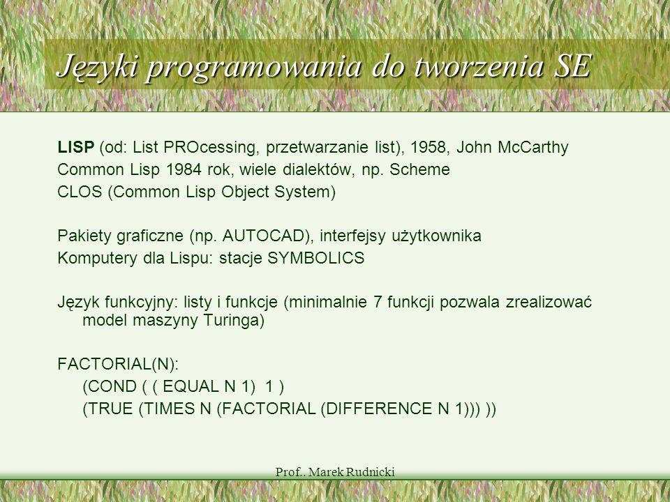 Języki programowania do tworzenia SE