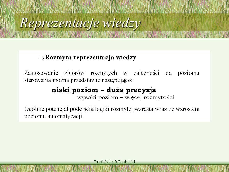 Reprezentacje wiedzy Prof.. Marek Rudnicki