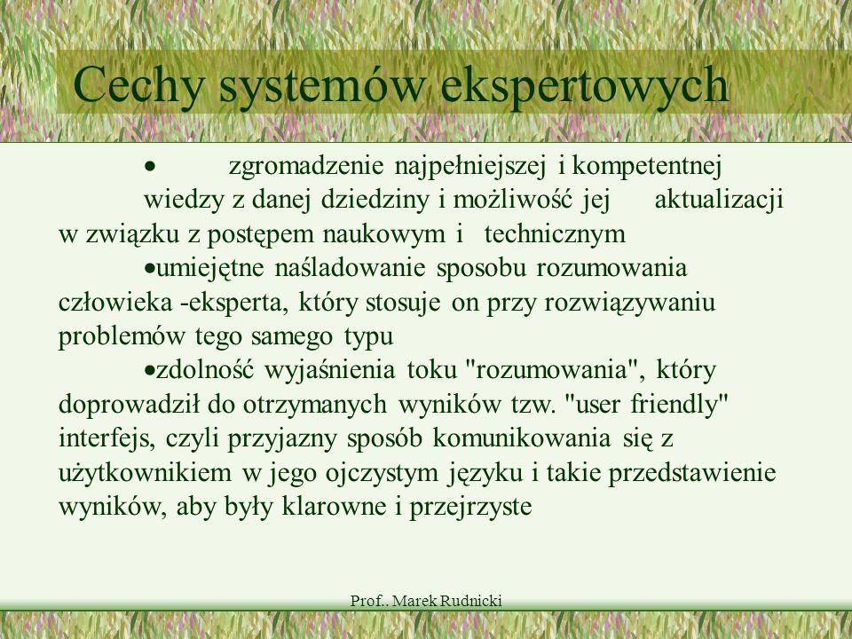 Cechy systemów ekspertowych