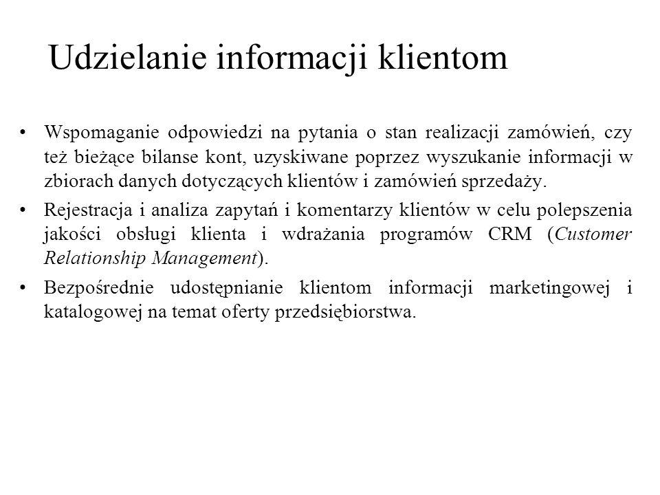 Udzielanie informacji klientom
