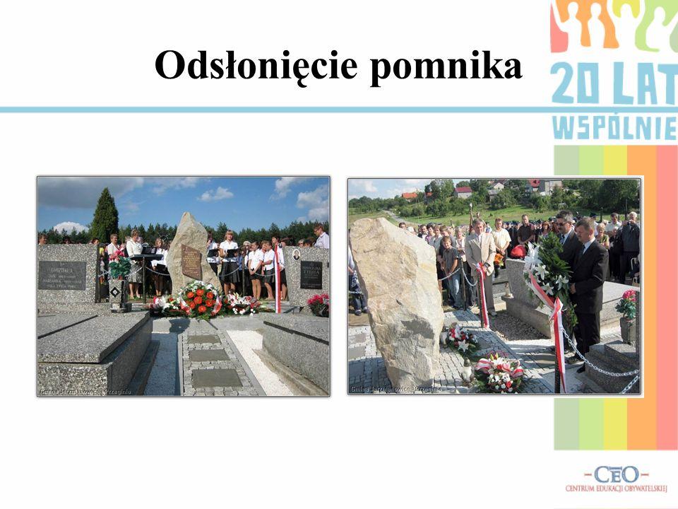 Odsłonięcie pomnika