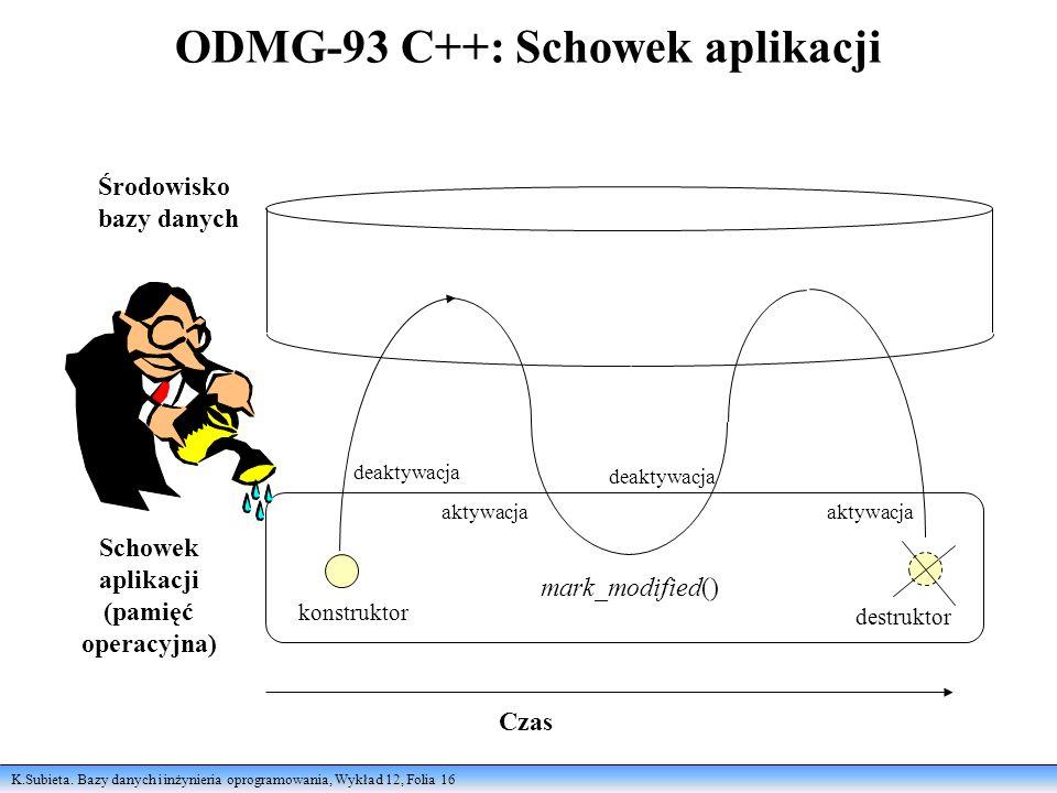 ODMG-93 C++: Schowek aplikacji