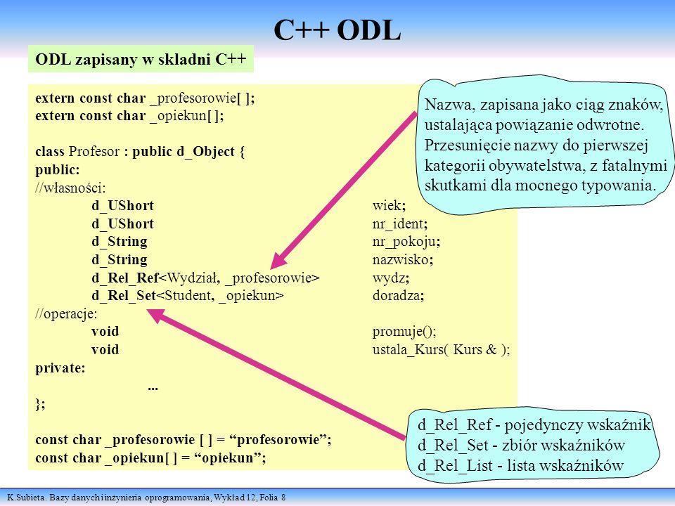 C++ ODL ODL zapisany w skladni C++