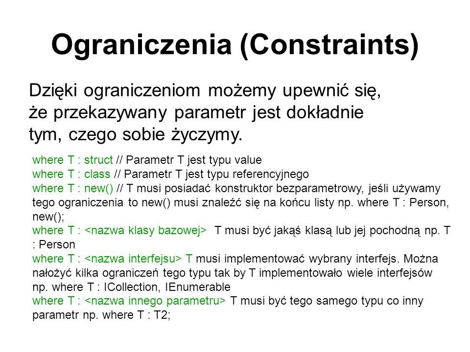 Ograniczenia (Constraints)