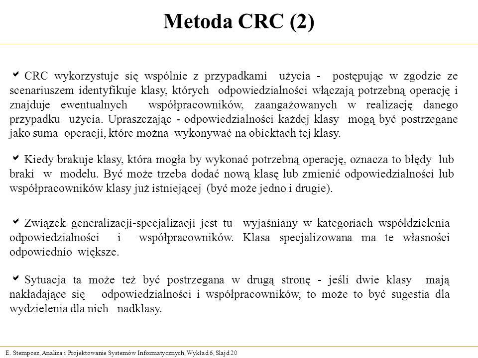 Metoda CRC (2)
