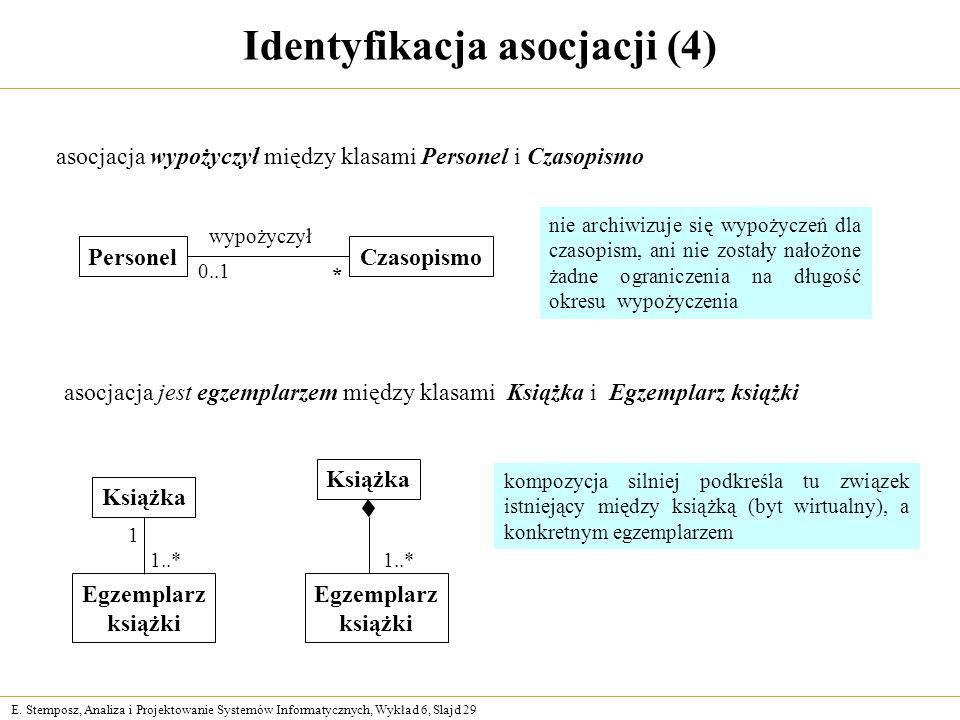 Identyfikacja asocjacji (4)