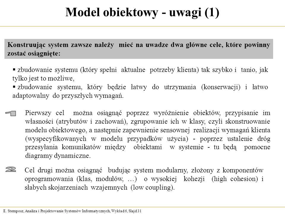 Model obiektowy - uwagi (1)